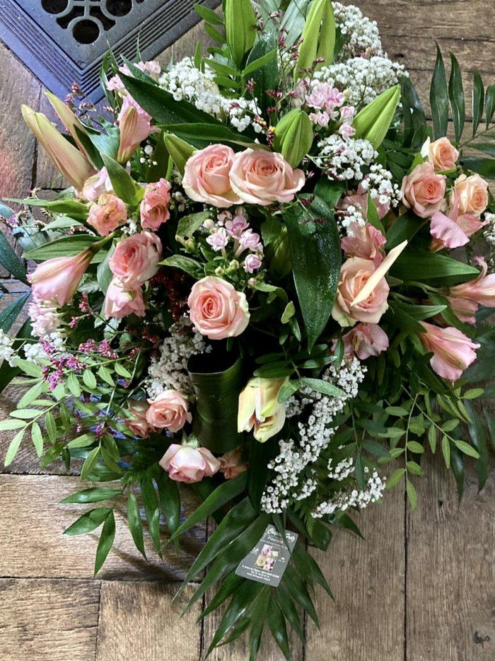 bouquet couleur pastel deuil Saint Cloud le Chapelin Fretz