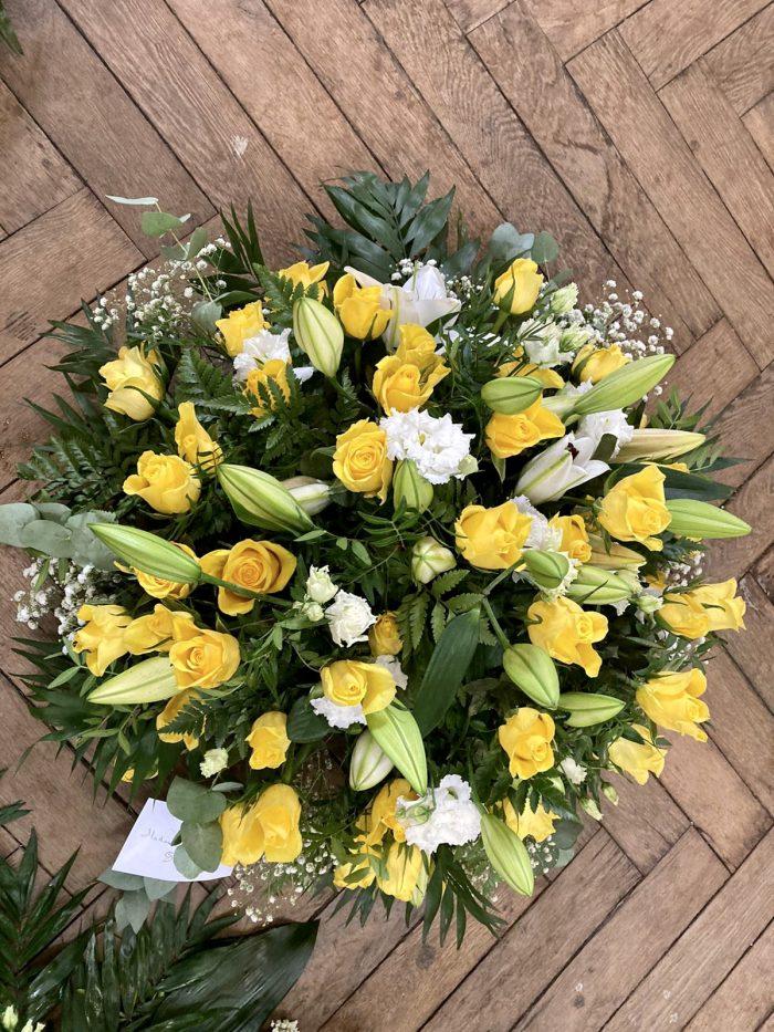 bouquet jaune deuil Saint Cloud le Chapelin Fretz