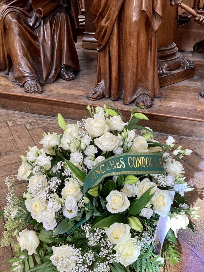 bouquet blanc deuil Saint Cloud le Chapelin Fretz