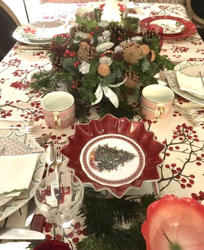 table de noel fleuriste Saint Cloud le Chapelin Fretz
