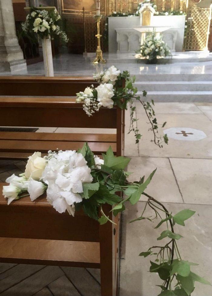 décoration église Saint Cloud fleuriste le Chapelin Fretz