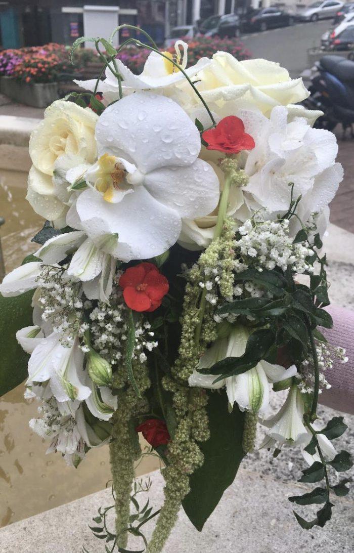 bouquet de mariage fleuriste Saint Cloud Chapelin Fretz