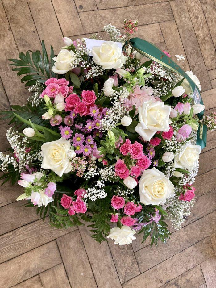 bouquet blanc fuchsia deuil Saint Cloud le Chapelin Fretz