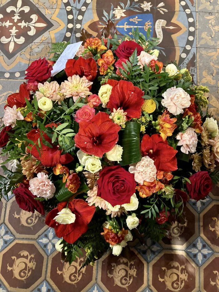 bouquet rouge deuil Saint Cloud le Chapelin Fretz